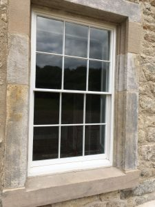 six over six sash window
